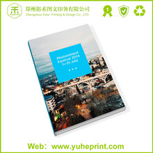Promotion nice price top level small order die-cut CMYK printing double door design catalogue
