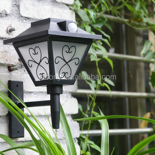 Outdoor Solar PIR motion light stake or wall mounted (JL-8572)