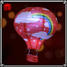 Hanging led patterned paper lanterns hot air balloon paper lantern JLS03-1