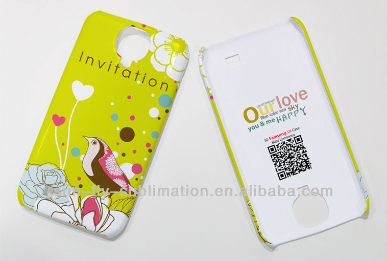 3D sublimation cell phone case for Samsung GalaxyS4 / Sublimation Phone Case/ Printable case for Galaxy S4
