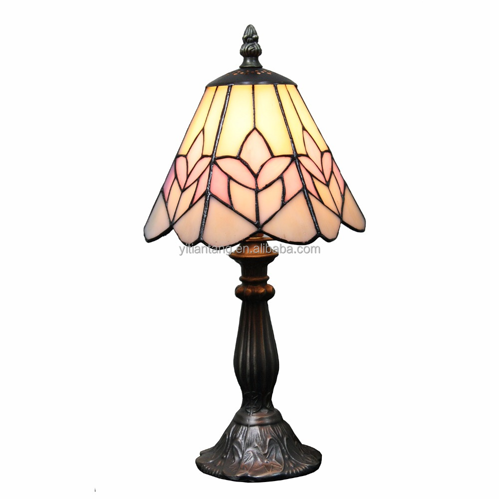 7 inch Tulip Floral Tiffany small table lamp