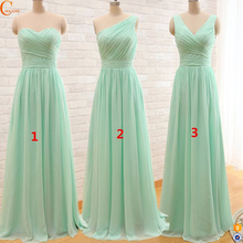 Long one piece bridesmaid dress