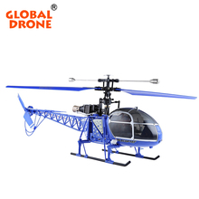 GLOBAL DRONE WLtoys V915 2.4G Lama RC Drone 4CH 6 Axis RC Helicopter Single Propeller RTF Toys Helicopter With Flashing Lights