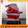 Customized Inflatable christmas decorations , 12ft giant inflatable santa claus