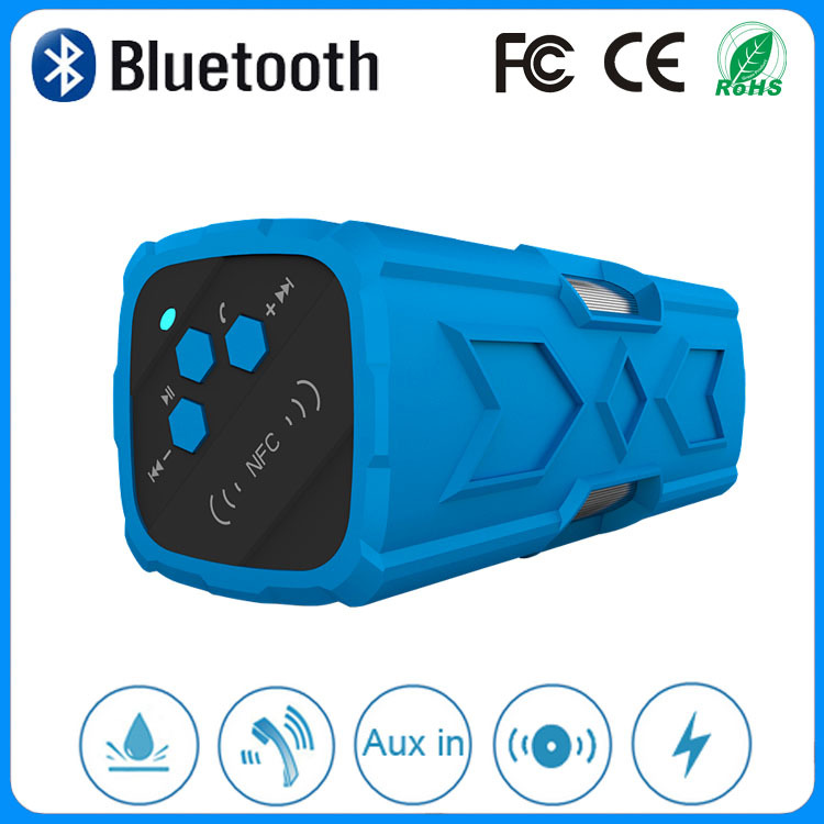 The 2015 newest 10w rugged, dust-proof, shock-resistant, and water-resistant personal bluetooth speaker with power bank