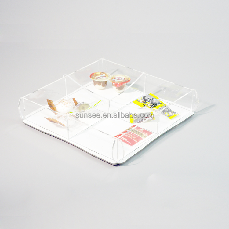 customized acrylic candy box with colorful design/New acrylic tray for 2015