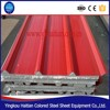 Thermal Insulation hot-dip galvanized Sandwich Panel, cold storage use corrugated color steel sheet EPS Sandwich Panel