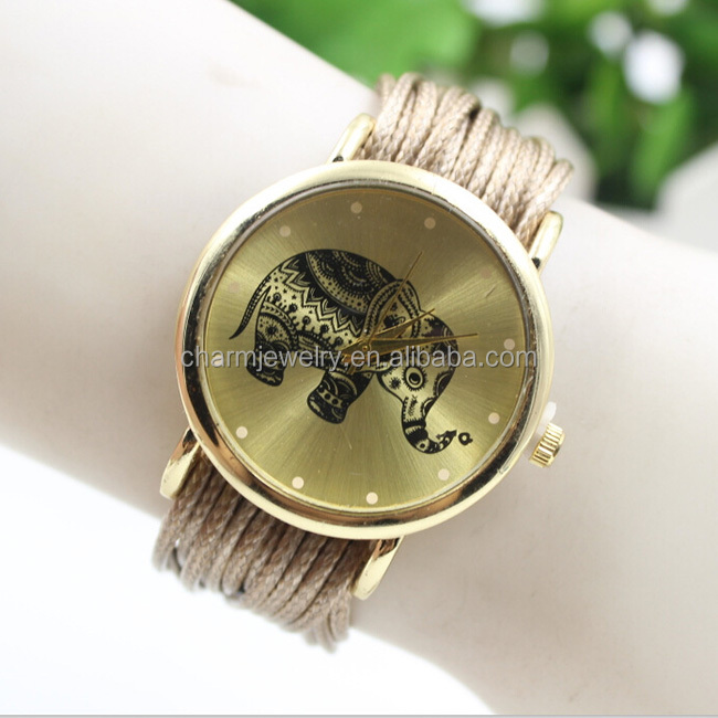 New ladies Leather Bracelet Watches for women Fashion Casual Elephant Wrist Watches 10 colors BWL123