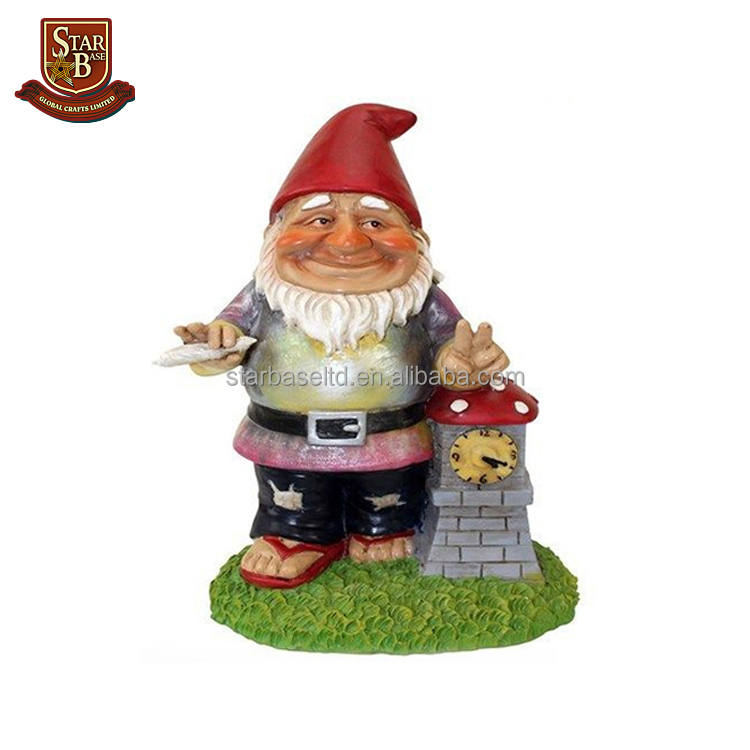 Handmade custom polyresin shame gnome garden decoration