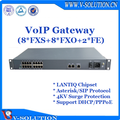 Asterisk 8FXS+8FXO VoIP Gateway SIP Gateway with 4KV Surge Protection Support PSTN Additional Service and Value-added Service
