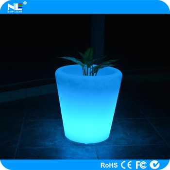 PE lighting LED light up flower pot / outdoor LED pot lights / LED plant pot