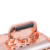 Rose Gold Big Diamond Suitcase Beauty Box Vanity Case with handle
