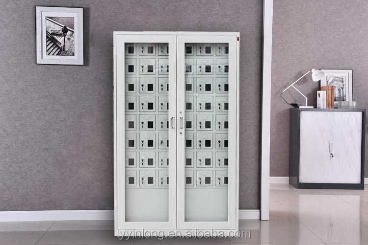 High quality 48 doors mobile phone charging locker with Europlug and USB