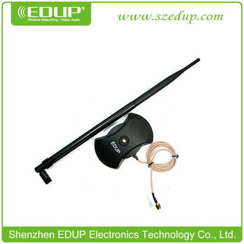 EDUP-AB001 10dbi 2.4Ghz Wireless/WiFi SMA Antenna with Magnetic Base
