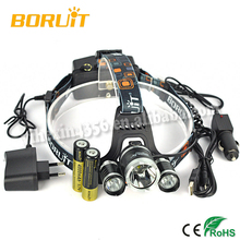 RJ-5000 Super Bright LED Head Torch New Style Hot Sell Headlamp with 3x Cree XM-L2 4-Modes 6000 Lumens