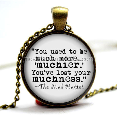 Alice Necklace - 'You've lost your muchness' - Alice in Wonderland - Book Necklace