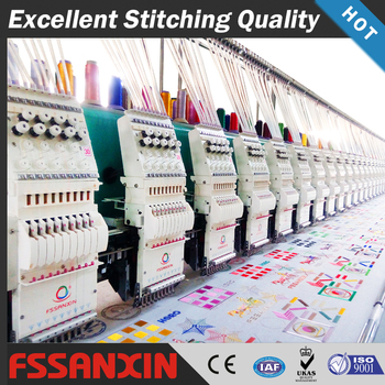 2018 best sale commercial automatic multi head high speed computerized embroidery machine price