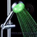 Green color water led shower home bathroom