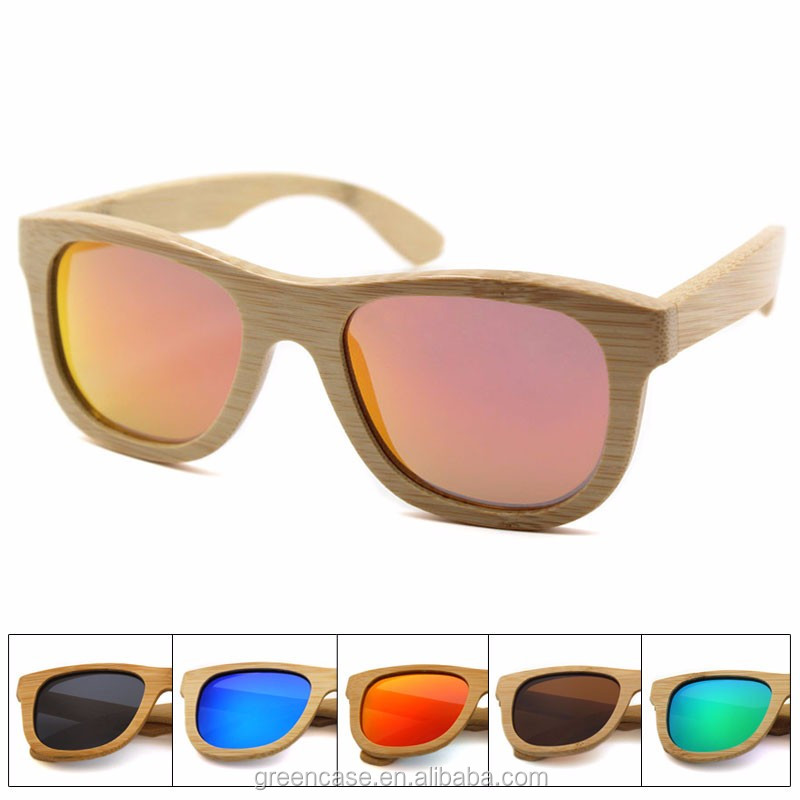 Fashion Custom 100% Wood Sunglasses <strong>Bamboo</strong> Polarized Wooden Sunglasses