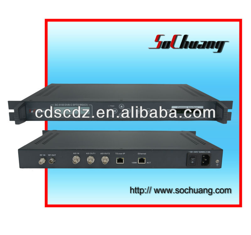 SC-5130 DVB-C Receiver/IRD (CI) IP Demodulator (Iredo CAM) (decrypt Iredo, Conax, Viaccess channels)
