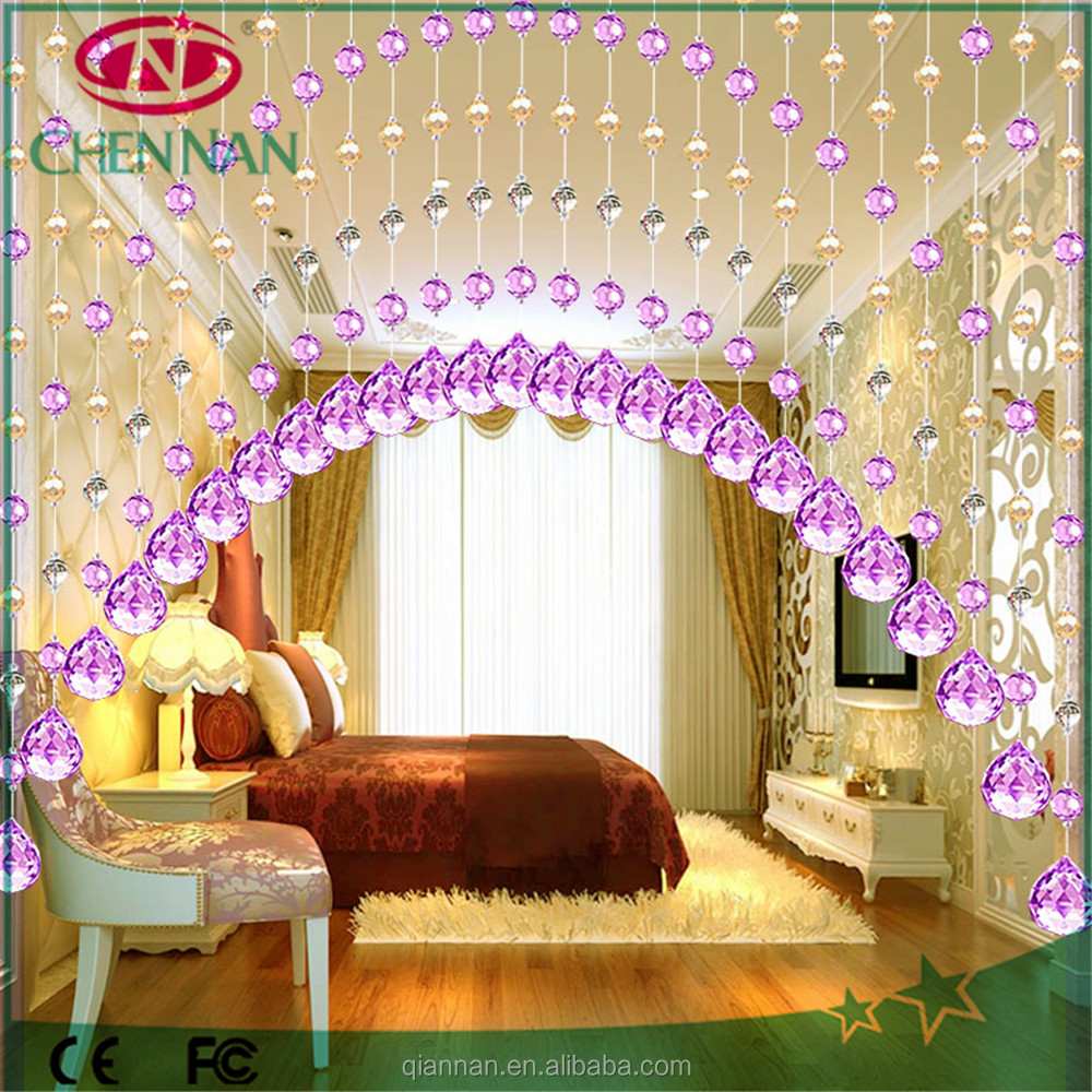 Crystal beads string curtain