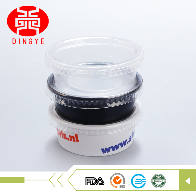 Household transparent disposable plastic tray mini sauce bowl with lid