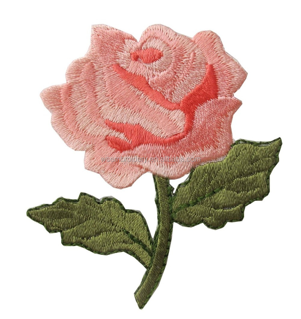 Wholesale applique embroidery flower patches for clothing