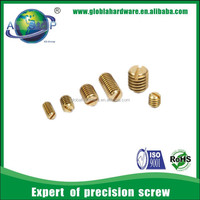 customized brass blind set screw