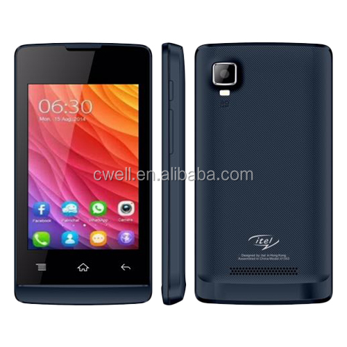 itel it1353 C6820 android 4.4.2 dual sim dual standby 2.0mp back camera black blue grey 3 colors cheap 3.5 inch china handphone