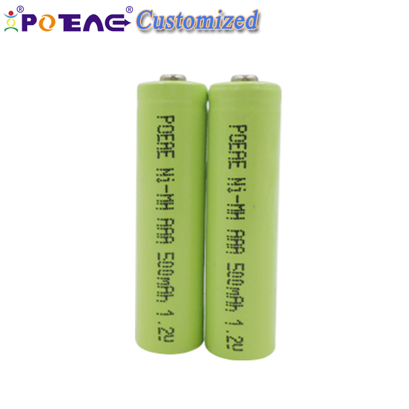 Free sample size aaa 500mah 1.2v ni mh rechargeable battery