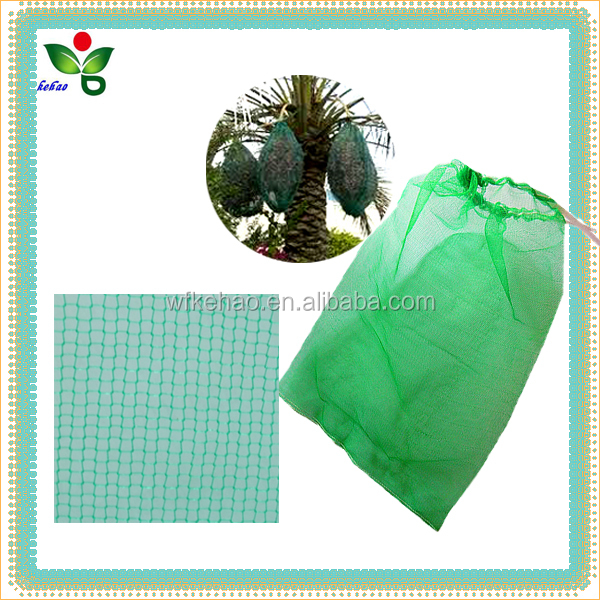 HDPE monofilament date palm tree net mesh bag green for date diseases uv protection