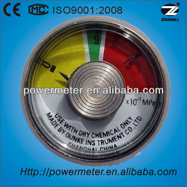 25mm portable pressure gauge for fire extinguisher