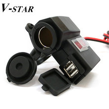 Smart Phone 2.1A One USB 12V to 5V Waterproof Motorcycle Vehicle Charger