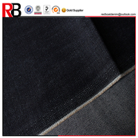 Blue color lycra cotton denim fabrics for baby