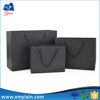 Xiamne alibabba supplier tote laminated paper black shopping bag