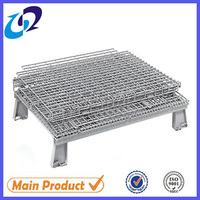 folding stackable stainless steel wire mesh cages