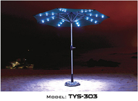 Cheap Solar Umbrella With LED light Patio Parasol