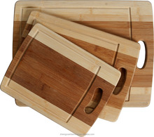 Eco-Friendly Premium Bamboo Kitchen Chopping Boards for Slicing, Carving & Serving (Large, Medium & Small)
