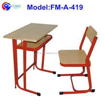 Classroom furniture children study desk with chair