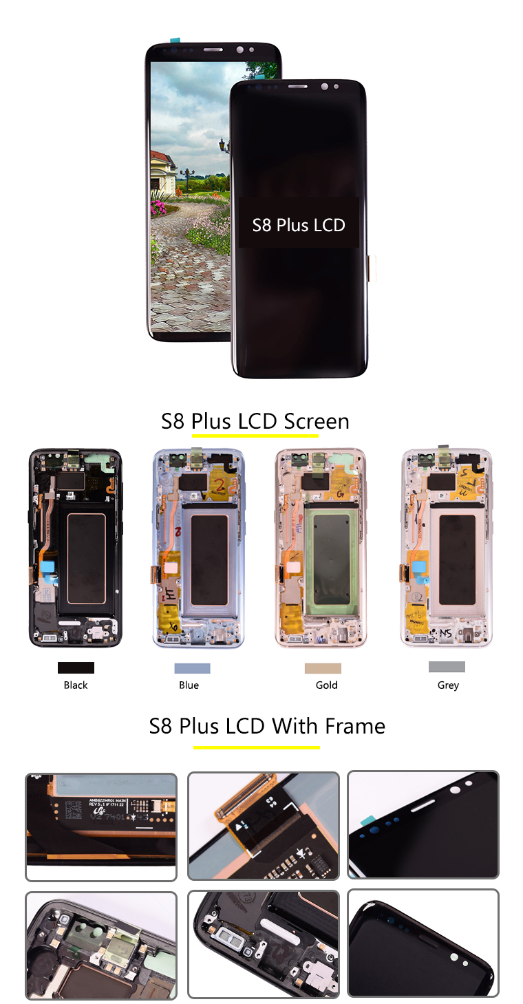 Original S8+ G955 LCD Touch Screen Glass Digitizer Display Assembly Replacement For Samsung Galaxy S8 plus Lcd