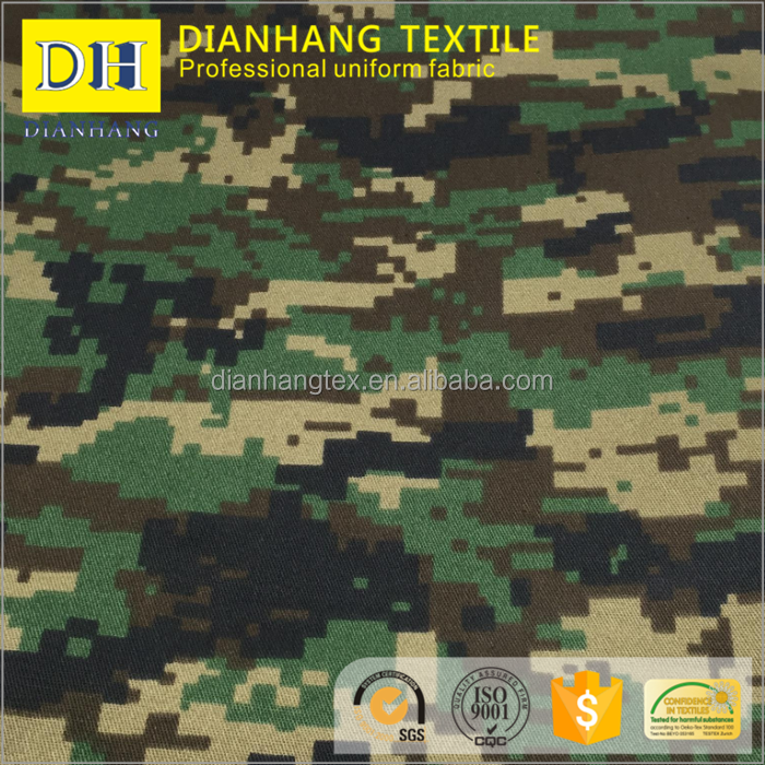 2/1 twill cotton polyester blend military digital jungle cotton cvc camouflage fabric