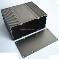 black anodized brushed aluminum communication boxes