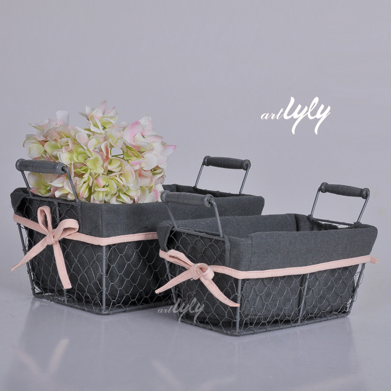 Wholesale Oval Metal Baskets Kitchen Accessories Set