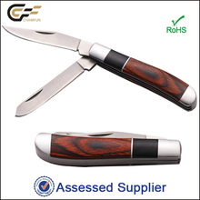 Two Blade Multifunction Wooden Handle Folding Pocket collection Knife