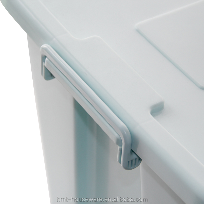 Taizhou Hengming plastic transparent bin custom transparent box plastic storage boxes folding lid