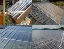 clear plastic roof tiles suppliers/transparent plastic glass sheet for balcony roof cover