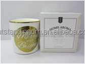Scented Candle Ceramic Holders With Candle Warmer In Luxury Candle Package Boxes