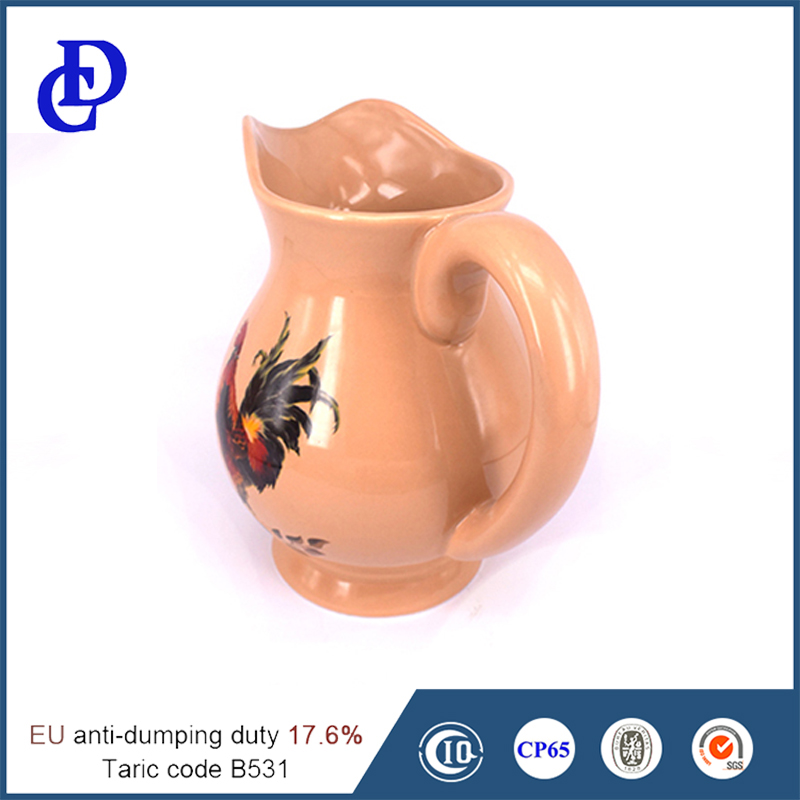 2016 Kitchenware custom 1000ml ceramic water container
