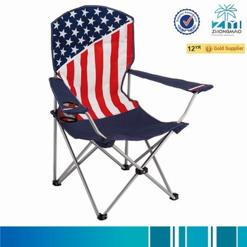 camping chair with american flag buy folding chair camp chair beach chair product on. Black Bedroom Furniture Sets. Home Design Ideas