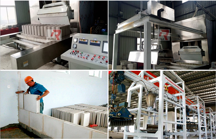 YURUI brand 667*500*80mm PLC control full automatic gypsum block production machine